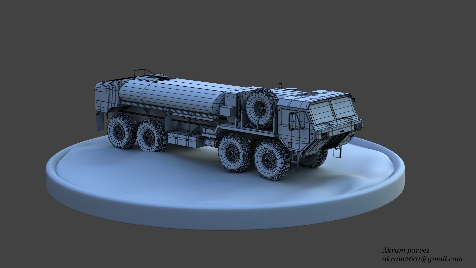 Truck_HighPolyWire